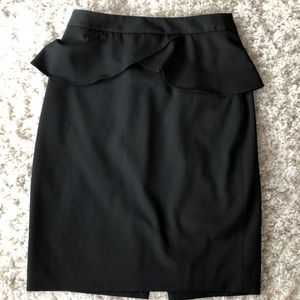 Express Black mid knee skirt